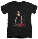 NCIS - Goth Crime Fighter V-Neck T-Shirt