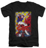 Speed Racer - Manga Cover Castle V-Neck Shirts