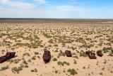Boats in Desert around Moynaq, Muynak or Moynoq - Aral Sea or Aral Lake - Uzbekistan - Asia Posters by Daniel Prudek