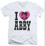NCIS - I Heart Abby V-Neck T-shirts