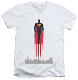 Man Of Steel - Red Streak V-Neck T-Shirt