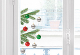 Christmas Fir Trompe L'Oeil Mini Window Stickers Window Decal
