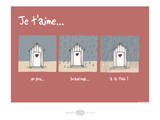 Heula. Cabines je t'aime Prints by Sylvain Bichicchi