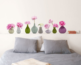 Vases Of Peonies Wall Decal