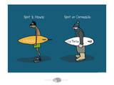 Oc'h oc'h. - Spots de surf Poster by Sylvain Bichicchi