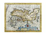 18Th Century Map of Japan Giclee Print