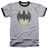 Batman - Old Time Logo Ringer Shirt