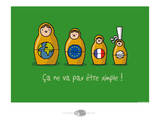 Oc'h oc'h. - Matriochka bretonne Posters by Sylvain Bichicchi