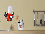 The Laughing Cow Water Resistant Wall Decal
