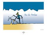 Touchouss - Ski de fondue Pôsteres por Sylvain Bichicchi