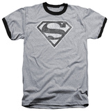 Superman - Grey S Ringer T-shirts