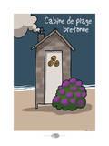 Oc'h oc'h. - Cabine de plage bretonne Art by Sylvain Bichicchi