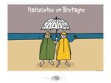 Oc'h oc'h. - Naturistes en bretagne Prints by Sylvain Bichicchi