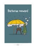 Heula. Barbecue normand Posters by Sylvain Bichicchi