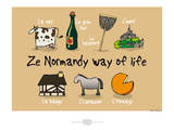 Heula. Ze Normandy way of life Posters by Sylvain Bichicchi