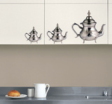 Teapots Water Resistant Wall Decal
