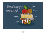Heula. Hamburger normand Posters by Sylvain Bichicchi