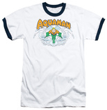 Aquaman - Aquaman Splash Ringer T-shirts