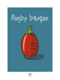 Pays B. - Rugby basque Prints by Sylvain Bichicchi