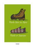 I Lov'ergne - Rando en Auvergne Poster by Sylvain Bichicchi