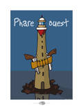 Oc'h oc'h. - Phare ouest Poster by Sylvain Bichicchi