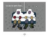 Touchouss - Les joies des sports d'hiver Posters by Sylvain Bichicchi