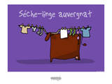 I Lov'ergne - Sèche-linge auvergnat Prints by Sylvain Bichicchi