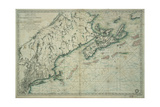 French Map of Nova Scotia and New England during Revolutionary War Giclee Print