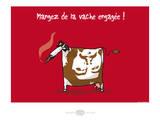Heula. La vache engagée Pósters por Sylvain Bichicchi