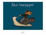 Tipe taupe - Biker bourguignon Posters by Sylvain Bichicchi