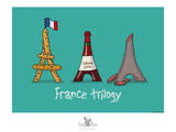 Coq-Ô-Rico -France trilogy Prints by Sylvain Bichicchi