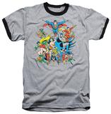 Justice League - Justice League Assemble Ringer T-shirts