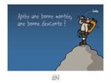 Fondus de montagne - Une bonne descente Prints by Sylvain Bichicchi