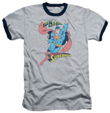 Superman - On The Job Ringer Shirt