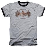 Batman - Heavy Rust Logo Ringer T-shirts