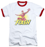 The Flash - Flash Rough Distress Ringer T-Shirt
