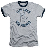 Star Trek - Live Long Hand Ringer T-shirts