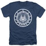 Battlestar Galactica - Scratched BSG Logo T-shirts