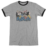 Popeye - The Gang Ringer T-shirts