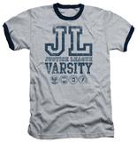 Justice League - Justice League Varsity Ringer T-shirts