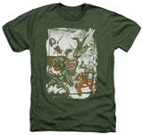 Justice League - Green And Red Shirts