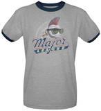 Major League - Distressed Logo Ringer Shirt