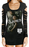 Juniors Long Sleeve: The Walking Dead - Claimed Laser Cut Cover Up T-shirts