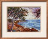 Monterey Cypress Framed Giclee Print by Erin Hanson