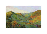 Green Paso Giclee Print by Erin Hanson