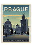 Prague, Czech Republic Poster af Anderson Design Group