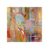 Abstract Heart Giclee Print by Amy Dixon
