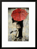 The Red Umbrella Art by Loui Jover