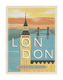 London, the Square Mile Poster by  Anderson Design Group