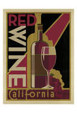 Red Wine Poster Posters by  Anderson Design Group